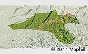 Satellite Panoramic Map of Jiangjin, lighten