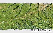 Satellite Panoramic Map of Jiangjin