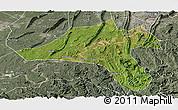 Satellite Panoramic Map of Jiangjin, semi-desaturated