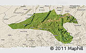 Satellite Panoramic Map of Jiangjin, shaded relief outside
