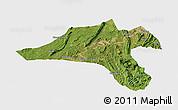 Satellite Panoramic Map of Jiangjin, single color outside