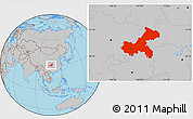 Gray Location Map of Chongqing