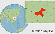 Savanna Style Location Map of Chongqing