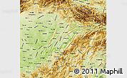 Physical Map of Chongqing