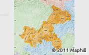 Political Shades Map of Chongqing, lighten