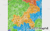 Political Shades Map of Chongqing