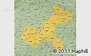 Savanna Style Map of Chongqing