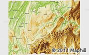 Physical 3D Map of Nanchuan