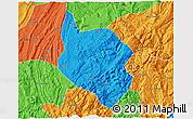 Political 3D Map of Nanchuan
