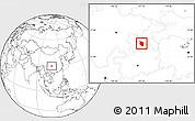 Blank Location Map of Nanchuan