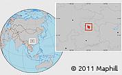 Gray Location Map of Nanchuan