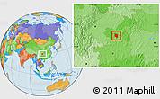 Political Location Map of Nanchuan