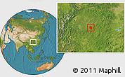 Satellite Location Map of Nanchuan
