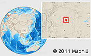 Shaded Relief Location Map of Nanchuan