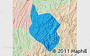 Political Map of Nanchuan, lighten
