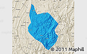 Political Map of Nanchuan, shaded relief outside