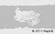 Gray Panoramic Map of Nanchuan, single color outside