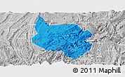 Political Panoramic Map of Nanchuan, lighten, desaturated