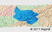 Political Panoramic Map of Nanchuan, lighten