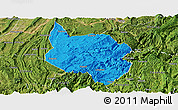 Political Panoramic Map of Nanchuan, satellite outside