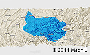 Political Panoramic Map of Nanchuan, shaded relief outside