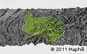 Satellite Panoramic Map of Nanchuan, desaturated