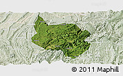 Satellite Panoramic Map of Nanchuan, lighten