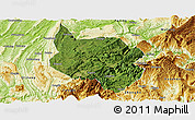 Satellite Panoramic Map of Nanchuan, physical outside