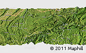 Satellite Panoramic Map of Nanchuan