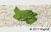 Satellite Panoramic Map of Nanchuan, shaded relief outside