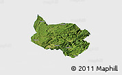 Satellite Panoramic Map of Nanchuan, single color outside