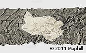 Shaded Relief Panoramic Map of Nanchuan, darken