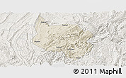 Shaded Relief Panoramic Map of Nanchuan, lighten