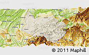 Shaded Relief Panoramic Map of Nanchuan, physical outside