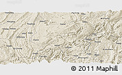 Shaded Relief Panoramic Map of Nanchuan