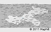Gray Panoramic Map of Chongqing