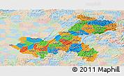 Political Panoramic Map of Chongqing, lighten