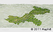 Satellite Panoramic Map of Chongqing, lighten