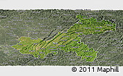 Satellite Panoramic Map of Chongqing, semi-desaturated