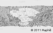 Gray Panoramic Map of Qijiang