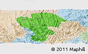 Political Panoramic Map of Qijiang, lighten