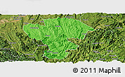 Political Panoramic Map of Qijiang, satellite outside