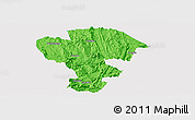 Political Panoramic Map of Qijiang, single color outside