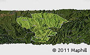 Satellite Panoramic Map of Qijiang, darken