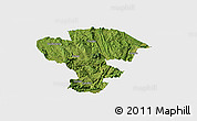 Satellite Panoramic Map of Qijiang, single color outside
