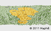 Savanna Style Panoramic Map of Qijiang