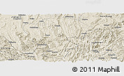 Shaded Relief Panoramic Map of Qijiang