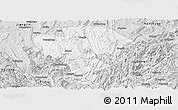 Silver Style Panoramic Map of Qijiang