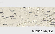 Shaded Relief Panoramic Map of Rongchang