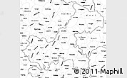 Blank Simple Map of Chongqing
